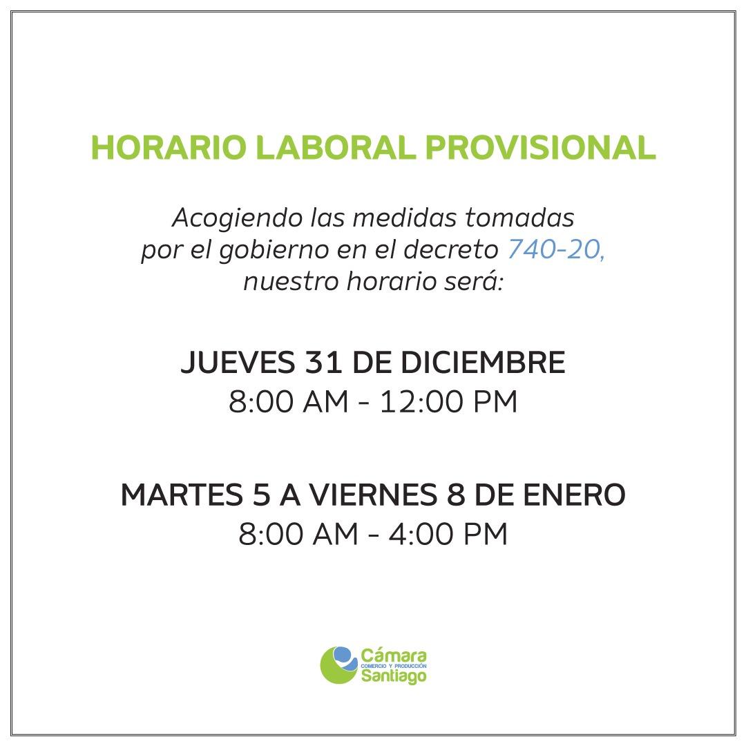 Horario provisional
